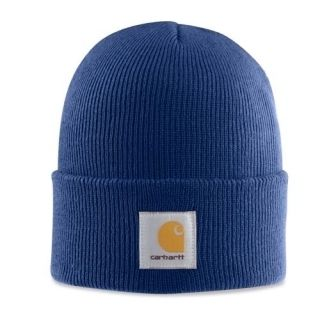 Carhartt Dark Cobalt Blue Sock Watch Cap Hat Beanie New A18