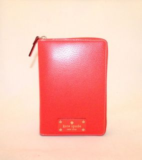 Kate Spade Deborah Personal 2013 Planner Zip Around Wellesley Coral $