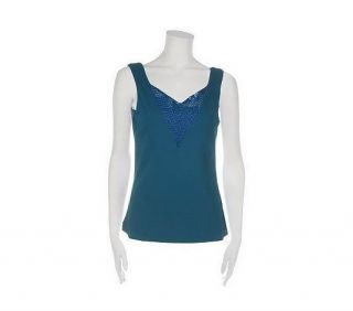 Kathleen Kirkwood Stretch Jersey Camisole Bead Detail