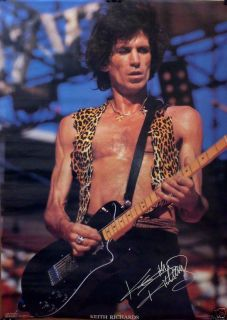The Rolling Stones 20x28 Keith Richards on Stage Poster 1983