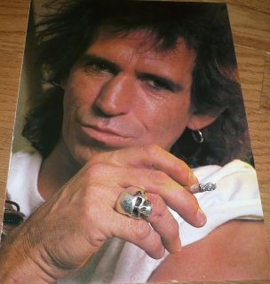 Keith Richards Pinup clipping Close Up 80s Rolling Stones
