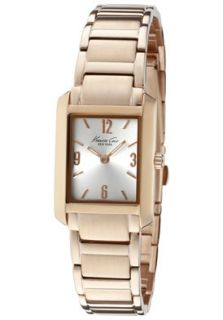 Kenneth Cole Watch KC4807 Womens Silver Dial Rose Gold Tone Ion Plated