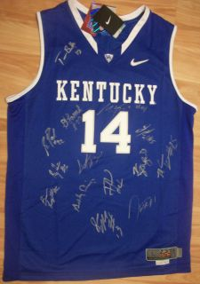 2011 12 KENTUCKY WILDCATS TEAM SIGNED NIKE ELITE AUTHENTIC BASKETBALL
