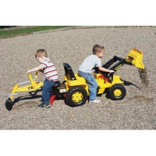 New Sale Kettler Ride on Pedal Tractor Sandbox Loader Backhoe 2 Seater
