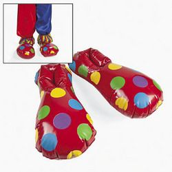 Inflatable Clown Shoes Birthday Party Clothes Attire Kids Games