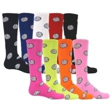 Volleyball Knee High Sport Socks Womens Kids Mens Blue Black Red Pink
