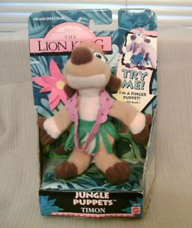 Lion King Jungle Puppet Timon 1994 New