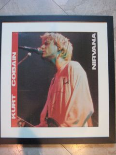 KURT COBAIN (Nirvana) Autographed Poster   *RARE* Framed and Signed w