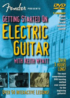 Started Electric Guitar Beginner Lessons Learn Play Video DVD NEW