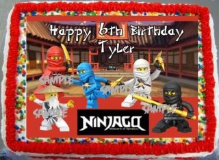 Sheet Legos Ninjago Edible Frosting Cake Birthday Image Party
