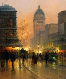 Harvey Lights of San Francisco Certified Signed w COA Serigraph on