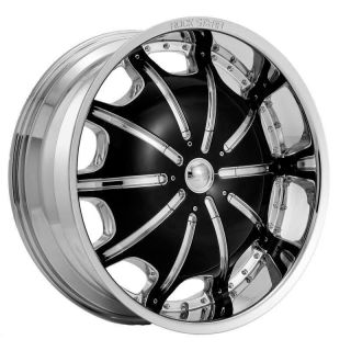 Tires Wheels Rockstarr 557 Chrome Black Lincoln Navigator 26 28