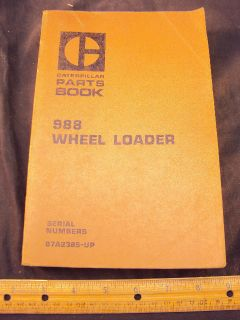 1971 Cat Caterpillar 988 Wheel Loader Parts Manual Book
