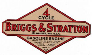 Briggs Stratton Gas Engine Motor Decal Hit Miss Engine 2 inch Bore Wm