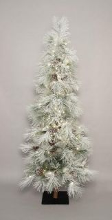 Rustic Long Needle Pine Cone Christmas Tree Pre Lit