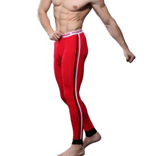 Mens Low Rise Sexy Thermal Underwear Pants Long John Red 2188 Medium M