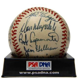 1961 Los Angeles Dodgers Team Signed Baseball PSA DNA