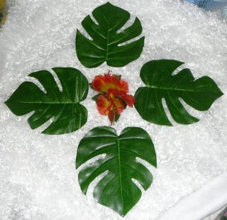 12 Large Tropical Leaves Wedding Luau Tropical Safari Party