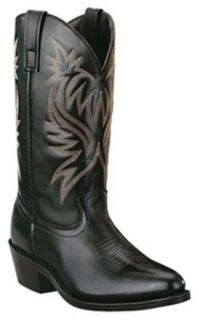 New Laredo Mens Black Leather Boots 10 M Style 4210