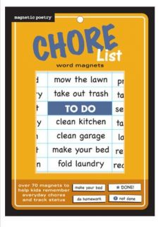 Magnetic Poetry® Refrigerator Chore List Word Magnets 3306