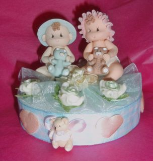 Baby Shower Twins Topper Diaper Cake Cupcakes Centerpiece Hospital