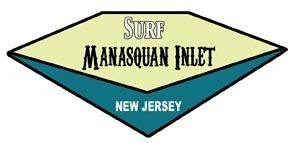 Manasquan Inlet NJ Vintage Style Surf Travel Decal