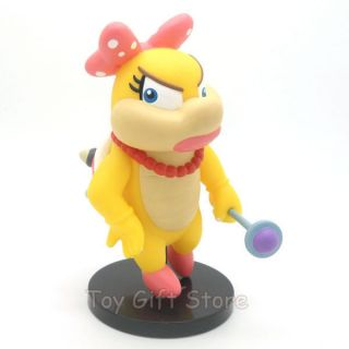 Super Mario Bros Wii Wendyo KOOPA Posable Action Figure 12 CM