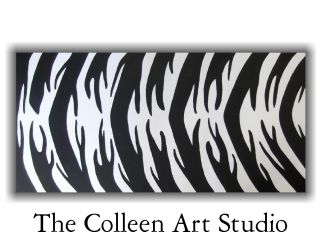 zebra modern art painting animal print original wall artwork home