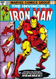 Marvel Comics  The Invincible Iron Man 126 Comic Book Cover Magnet