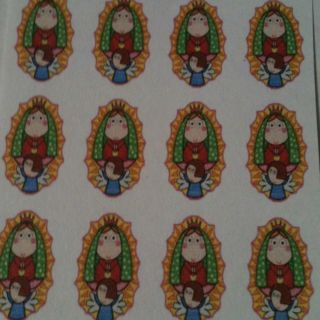 Virgin Mary of Guadalupe Water Slide Nail Decal Virgencita Plis