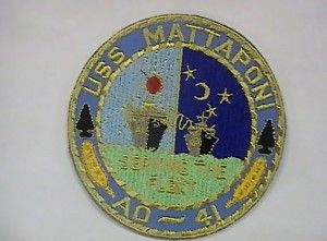 RARE Mint 1969 US Navy USS Mattaponi AO 41 Ships Patch