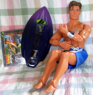 Max Steel Wave Flier Doll Action Figure Toy Some Accessories 2001