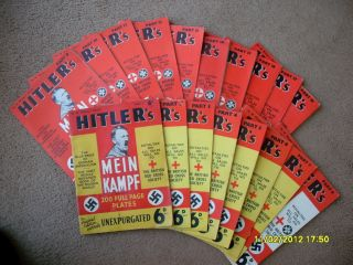 MEIN KAMPF Adolf Hitler WWII illustrated War Propaganda All 18 parts
