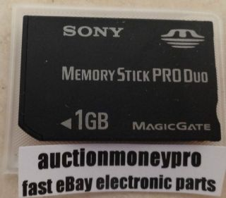 GB 1GB MSX M1GST MagicGate Memory Stick Pro Duo Card Recording Media