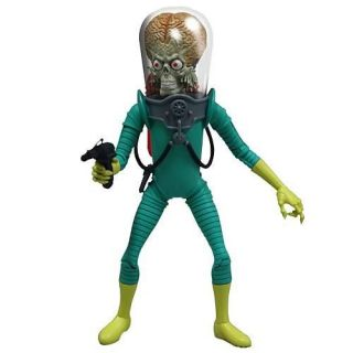 Mars Attacks 6 Action Figure Mezco Martian Soldier Topps Trading Cards