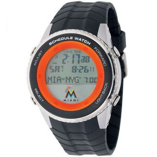 Miami Marlins MLB Baseball Wrist Watch Adult Schedule Wristwatch Gift