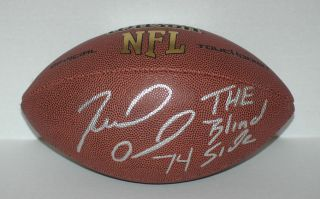 Michael Oher Signed NFL Compsite Leather Football Wilson w Insc