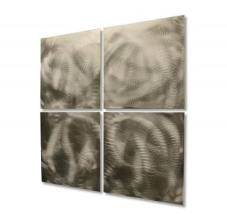 Silver Modern Metal Sculpture Abstract Wall Art Contemporary Unique