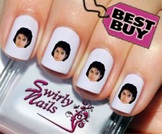 20 Michael Jackson Nail Art Transfer Decal Stickers 39