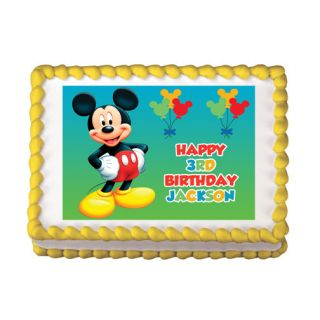 Mickey Mouse Edible Cake Party Image Topper Decoration