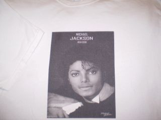 Michael Jackson Memorial T Shirt 1958 2009 Rip 5 Death Shirt Mens XL