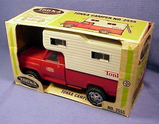 1960s Tonka Dodge Style Pickup camper Unused in Box No 2555