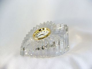 Mikasa Heart Shaped Crystal Table Desk or Table Clock ~ Nice Wedding