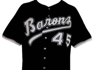 MICHAEL JORDAN BIRMINGHAM BARONS BASEBALL JERSEY BLACK BUTTON DOWN NEW