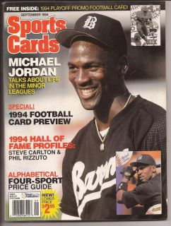 Michael Jordan September 1994 Sports Card Price Guide Magazine