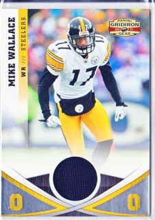 Mike Wallace RARE Jersey SP 49 Steelers 2011 Gridiron Gear