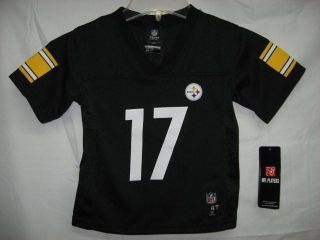 Mike Wallace Pittsburgh Steelers Black 2012 13 NFL Toddler Jersey 2T $