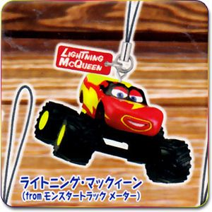 Disney Pixar Cars 2 Toon Mini Mascot Strap Monster Truck Frightening