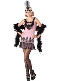 FLIRTY FLAPPER 20s girls kids roaring twenties halloween costume teen