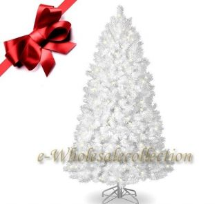 PRE LIT CLEAR ARTIFICIAL FULL WHITE CHRISTMAS TREE